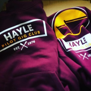 Hayle gig club kit arriving just in time for the World gig championships.