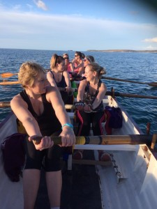Hayle gig club's ladies' B crew out for a training session this evening