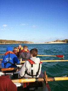 Hayle gig club's Junior crew out for a lovely row in the sun this morning