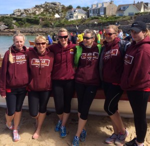 Ladies' B crew at the World gig championships on the Scilly Isles 2016