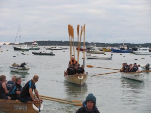 Hayle crew setting out for the start line on the Saturday